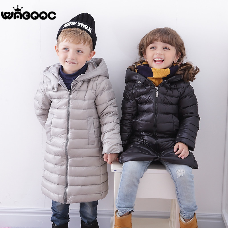 Children's Outerwear Boys and girls Long Winter Jackets Boy White Duck Down Coats Middle And Small Children Hooded down jackest 2018 big boy down jacket winter boys thickening duck down jackets coats fur hooded long winter warm children s outerwear coats