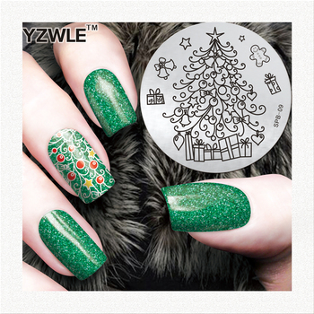2020 Christmas new designs fashion nail art stainless steel stamp image plate for girl image