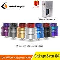 Geekvape барон Squonk RDA Multi Функция воздушного потока системы вейп с RDA пульверизатором 24 мм RDA vs профиль RDA с бесплатной Афина боттомфидер-мод
