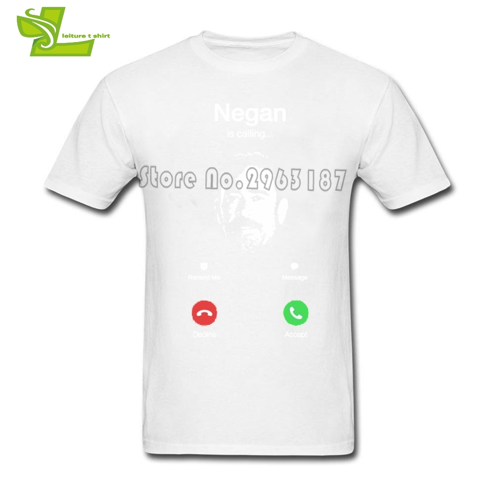 Negan Is Calling T Shirt Men Summer O Neck Team Tees Adult New Arrival Big Clothes Exercise Dad Tee Shirt The Walking Dead