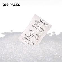73a835d66 200 Pacotes de Sílica Gel Não-Tóxico Dessecante Desumidificador Damp Umidade  Absorber Para Cozinha Sala de Roupas De Armazenamen.