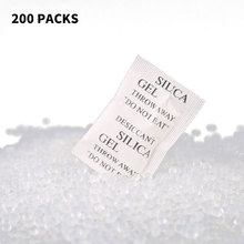 Hot 200 Packs Non-Toxic Silica Gel Desiccant Damp Moisture Absorber Dehumidifier For Room Kitchen Clothes Food Storage