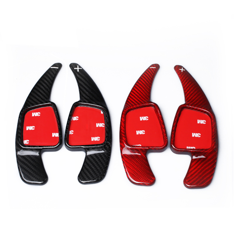 car Gearbox Carbon Fiber Wheel Shifter Paddles Shifter Extension FOR Audi A5 S3 S5 S6 SQ5 RS3 RS5 RS6