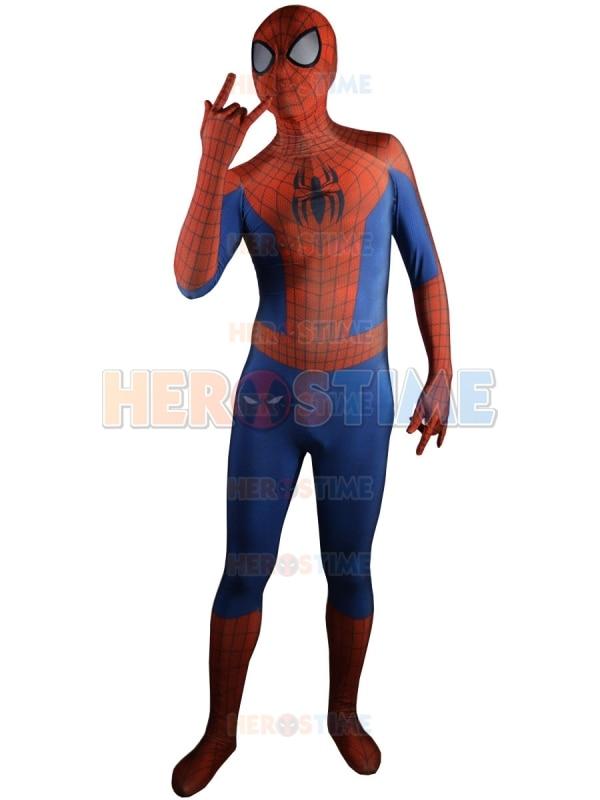 Spiderman Kostým klasický spandex 3D Vytisknout fullbody Spiderman - Kostýmy