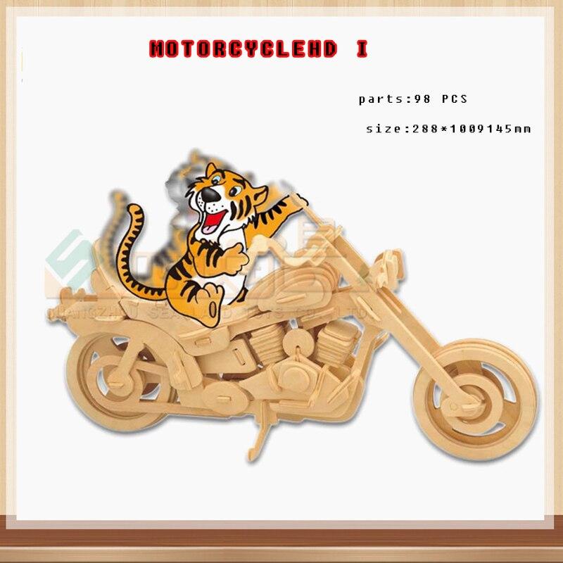 Ребенок 3d деревянный Moto Пазл деревянный двигателя пазл игрушки детям IQ Развивающие деревянные игрушки DIY ручной работы Пазлы g-p019