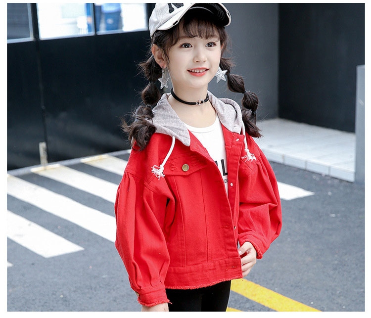 sports outwears coats for big girls clothing long sleeve red green hooded patchwork tops kids jackets active baby girl clothes (12)