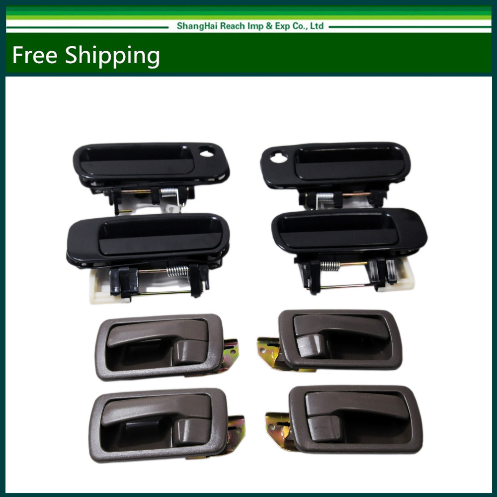 E2c Fuse Box For Volkswagen Golf Jetta Beetle 98 99 00 01 02 03 1998 Toyota Camry V6 Black Outside Brown Inside Door Handles Right Left Front Back 92 96