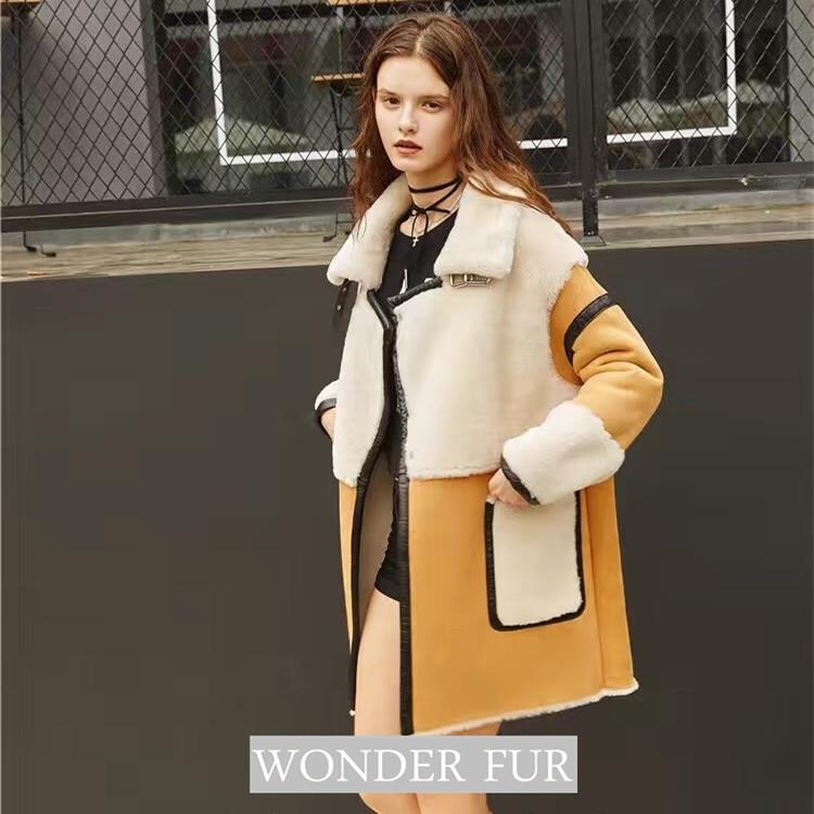 Nov prihod iz ovčje kože in krznene jakne Trend Style Merino ovčje - Ženska oblačila - Fotografija 5