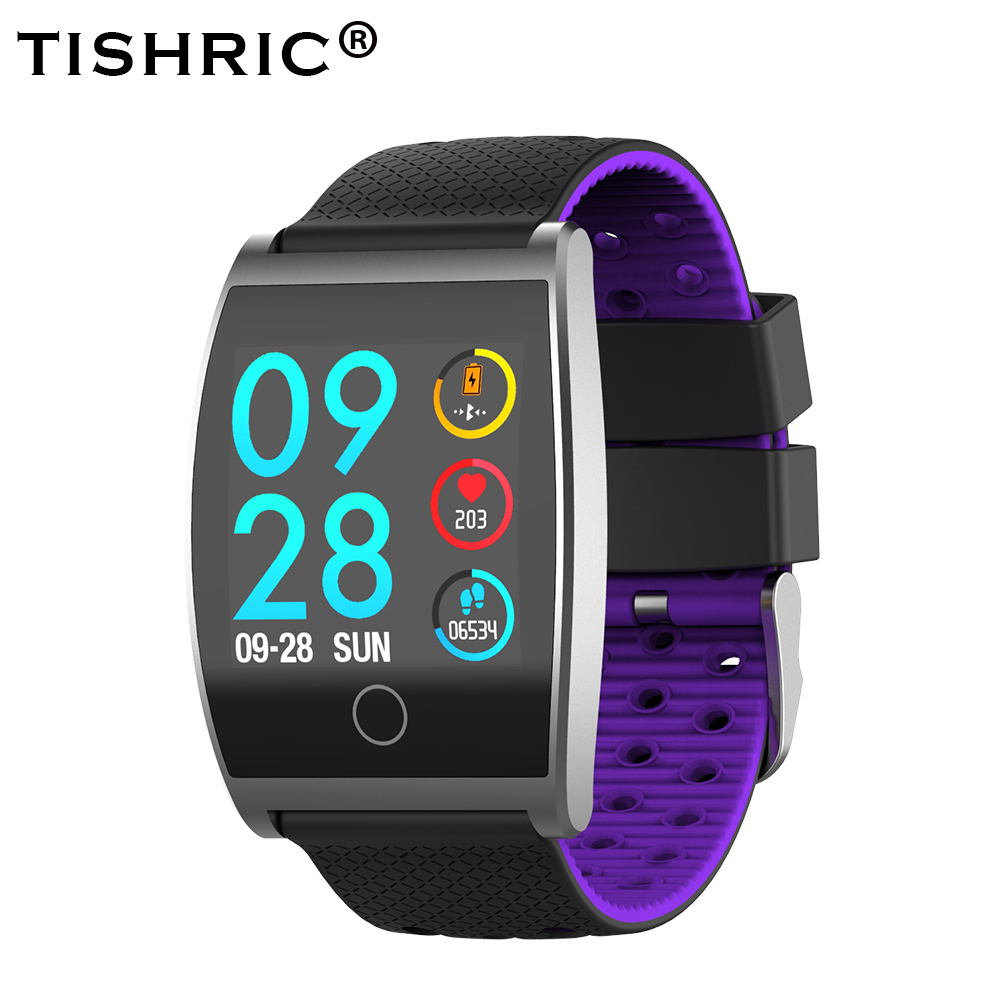 TISHRIC QS05 Smart Bracelet Sports Bracelet Activity Tracker Heart Rate Monitor Smartwatch Pedometer For Android IOS