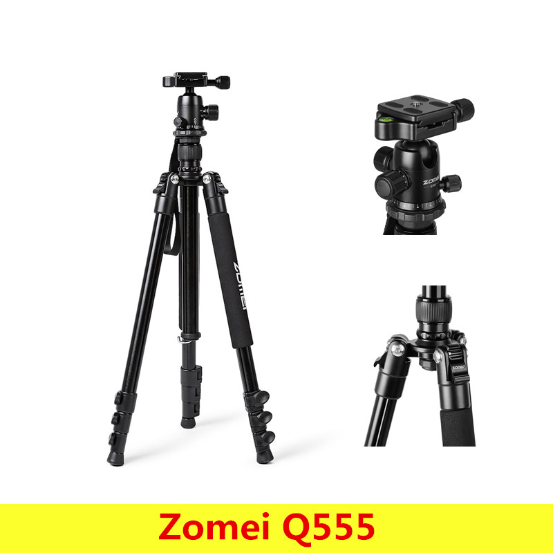 Zomei Q555 trépied portatif d'appareil-photo d'alliage d'aluminium rotation horizontale de 360 degrés