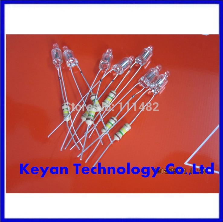 Neon light neon bulb indicator lamp 4 10mm resistance 220v