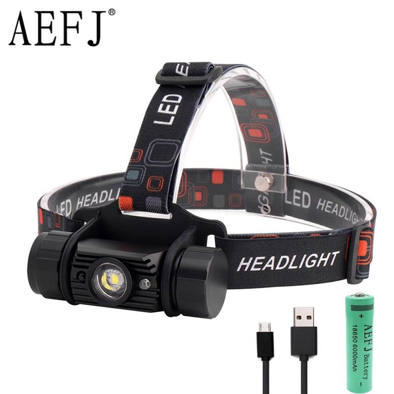 1000 Lumen 5W Mini IR Sensor Headlight Induction Usb Rechargeable Lantern Headlamp 1-Mode Flashlight Head Torch