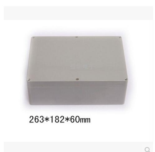 263*182*60mm IP65 Waterproof Plastic Enclosure Box Junction Box For Electronic/ PCB 10.35 x 7.16 x 2.36 waterproof plastic enclosure case junction box 265mm x 185 mm x 115 mm l15