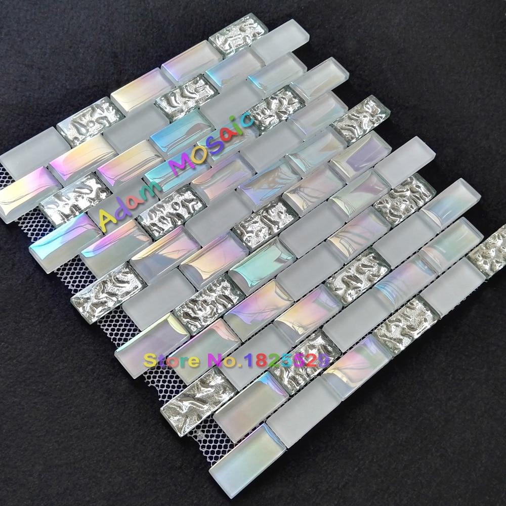 Kitchen Backsplash Tile Super White Brick Mosaic Tiles