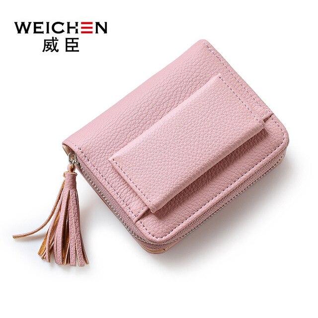 WEICHEN 2017 New Fashion Women Wallet Fresh Style Tassels Lovely Girls Short Purse Coin Penny Package PR58C5716-4