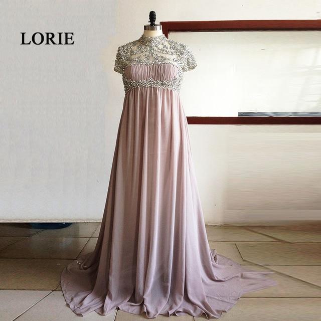 Luxury Maternity Evening Dresses for Pregnant women High Waist Chiffon  Beading Rhinestones Prom Dress Party Gown abendkleider 496812eae0d6