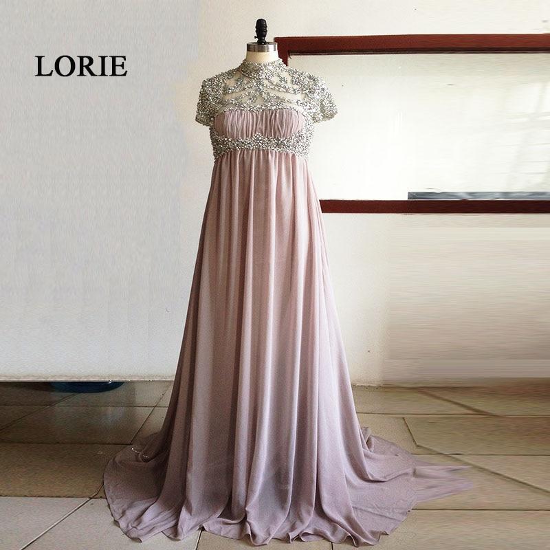 Luxury Maternity   Evening     Dresses   for Pregnant women High Waist Chiffon Beading Rhinestones Prom   Dress   Party Gown abendkleider