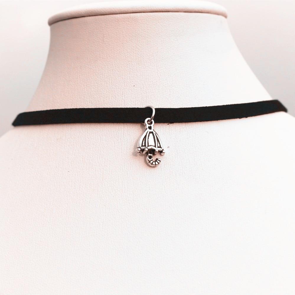 977704961593 NK972 nueva gótica punky paraguas vintage collar negro terciopelo cuero  collares bijoux para las mujeres joyería gargantilla Collana caliente