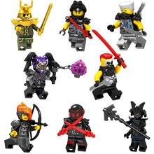 NEW Compatible LegoINGlys NinjagoINGlys Nya Lloyd Jay Zane Kai Cole Harumi Samurai X Model toys for childre Building Blocks Toy