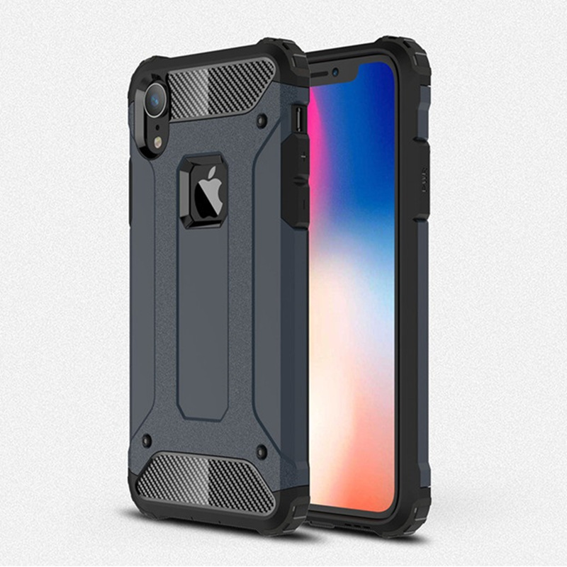 new style 67c47 516e6 US $2.51 34% OFF|For iphone XS Max Hybrid Tough Rugged Armor Case For  iphone 8 7 6 6s Plus X XR 5 5S SE Cover Hard PC Silicone Shockproof  Coque-in ...