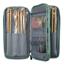 Empty Pouch Crochet Hook Storage Bag Big Capacity Knitting Needles Organizer Scissors Ruler Sewing Accessories Case