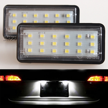 2 Pcs LED Number License Plate Light Kit White Car For Toyota Land Cruiser 120 Pardo 200 Lexus LX470 GX470