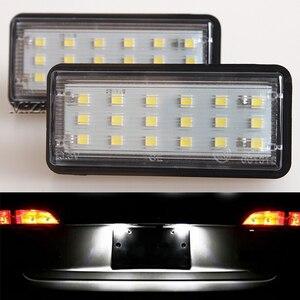 2 Pcs LED Number License Plate Light Kit White Car For Toyota Land Cruiser 120 Pardo Land Cruiser 200 For Lexus LX470 GX470