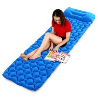 Air Sleeping Pad Air Mattress Inflatable Camping Mat Beach Picnic Mat with Built in Pillow for Outdoor Camping Hiking Travel