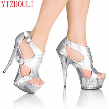 new Arrived Hot Neon color 15CM ultra High heel sandals /Sexy party dancing heels/summer women Dance Shoes