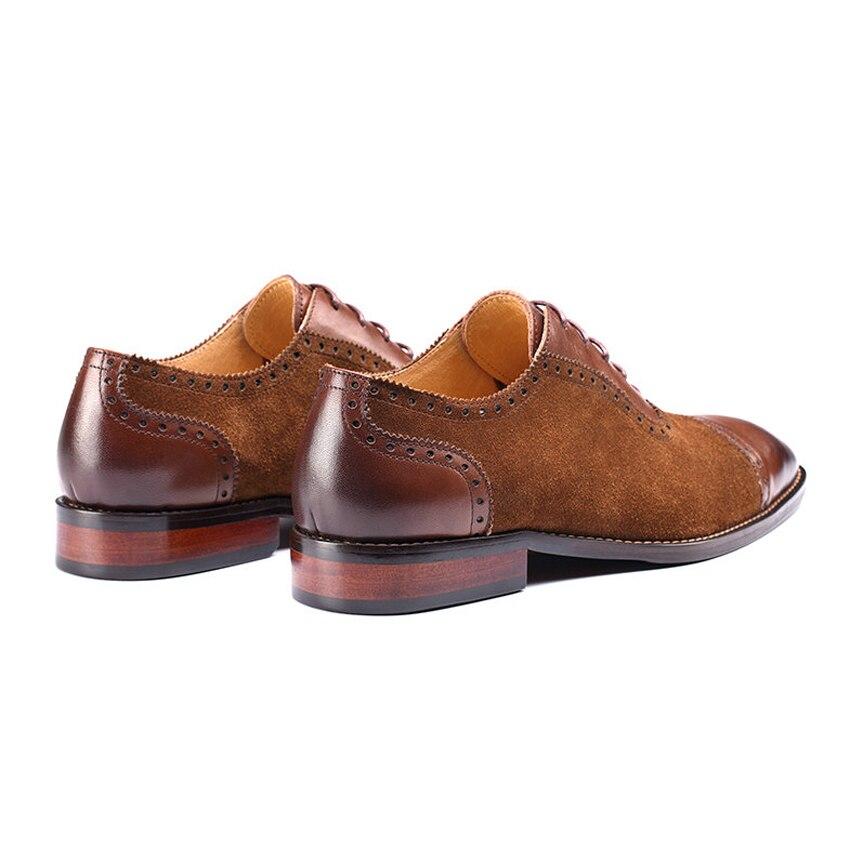 Brogue Mlt38 Schuhe Wildleder Plus Flügelspitze Brown Spitz Size Geschnitzt Kleidung Kuh Oxfords Hochzeit Formelle Handgefertigten Männer 6O7OqCxSw