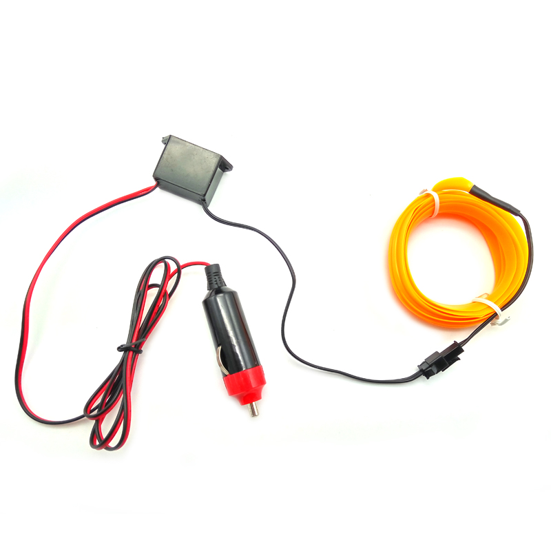 Car Interior LED EL Wire Rope Tube Line strip For fiat 500 ford ...