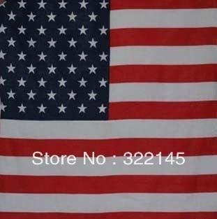 100% Cotton Paisley Bandanas Double Sided Head Wrap Scarf Wristband American Flag Facecloth Free Shipping Wholesale 100 Pcs