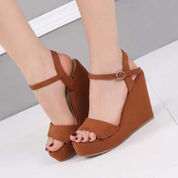 Female Summer Bohemia Sandals Wedges High Heeled Shoes Platform Sandals Women Sys-1113