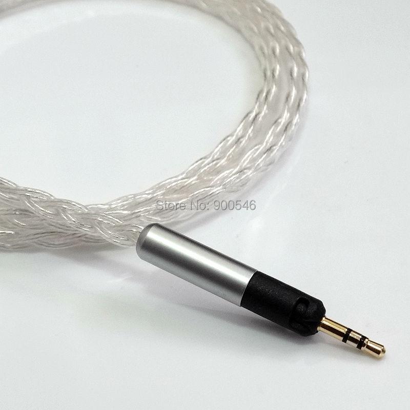 1,2 m 4ft L-tüüpi pistik 6core 4N OCC hõbetatud kõrvaklappide - Kaasaskantav audio ja video - Foto 3