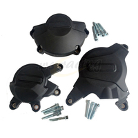 Motorcycle Black Engine Cover Protection Case Set Kit For HONDA CBR600RR CBR 600 RR 2007 2016 07 08 09 10 11 12 13 14 15 16