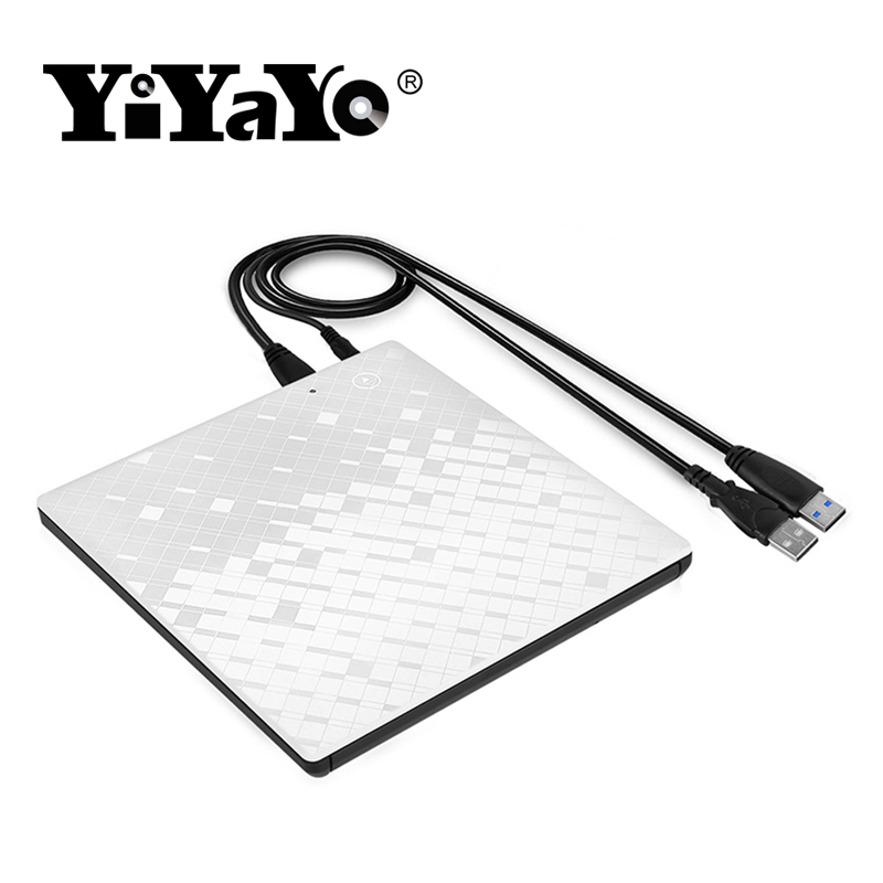 YiYaYo Touch Control USB 3.0 CD/DVD RW Drive Externl CD ROM/DVD ROM Ultra Slim Drive Portable/Writer for Windows 10/MAC OS linux