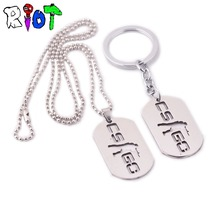 10pcs/lot Game CSGO Stainless Steel Keychain Counter Strike Metal Keyring For Men Male necklace chaveiro men jewelry key buckle