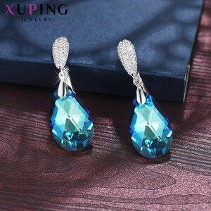 Image 4 - 11,11 Xuping серьги капли с кристаллами Сваровски, элегантные ювелирные изделия для девушек и женщин, изысканный подарок