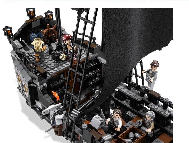 LEPIN 16006 804Pcs Pirates Of The Caribbean The Black Pearl Ship Model Building Kit Blocks Brick Compatible Toys 4184