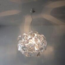 Современный короткий ариловый подвесной светильник norbic home deco, прозрачный акриловый подвесной светильник для гостиной
