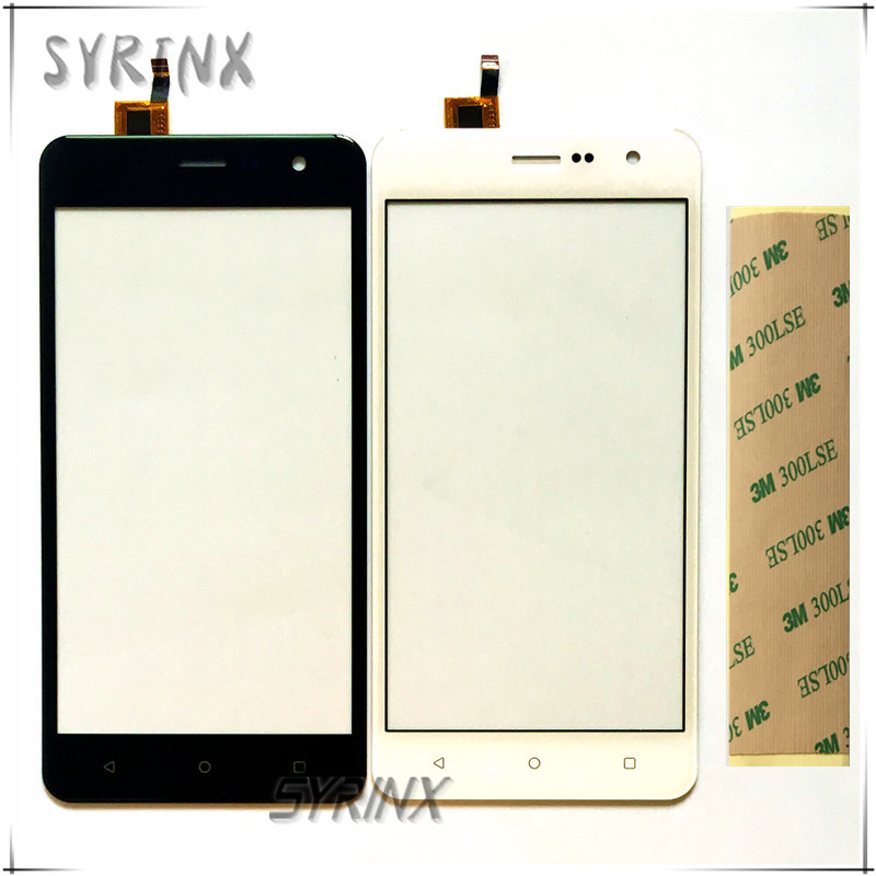 Syrinx +Tape Moible Phone Touchscreen Sensor Panel For Fly Champ FS529 FS 529 Touch Screen Digitizer Front Glass Lens Touchpad