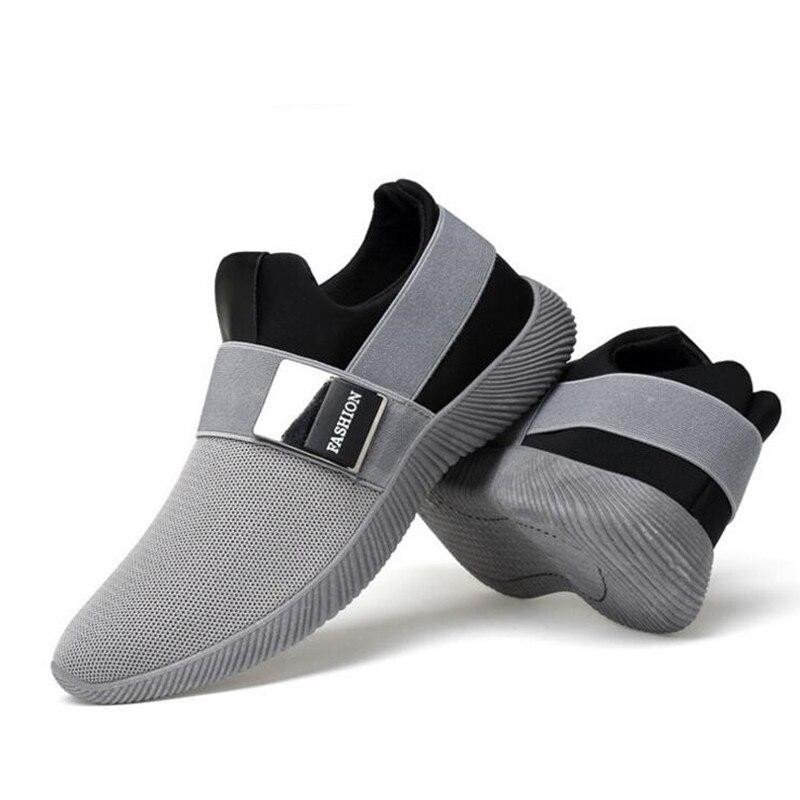 Linho Elegante Masculinos Respirável Sapatos Homens Mocassins gray Negócio Mens Casuais De Black Primavera Sapato E8zqRdE