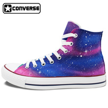 Purple Pink Original Design Galaxy Converse All Star Man Woman Shoes Hand Painted High Top Mens