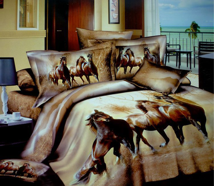 3d Horse Design Patterns Print Bedding Sets Queen Size