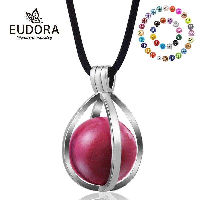 100% QualitäT Eudora 20mm Schwangerschaft Harmony Bola Ball Schmuck Mode Kupfer Ei Medaillon Anhänger Bunte Mexikanische Ball Halskette Frauen Geschenk H176