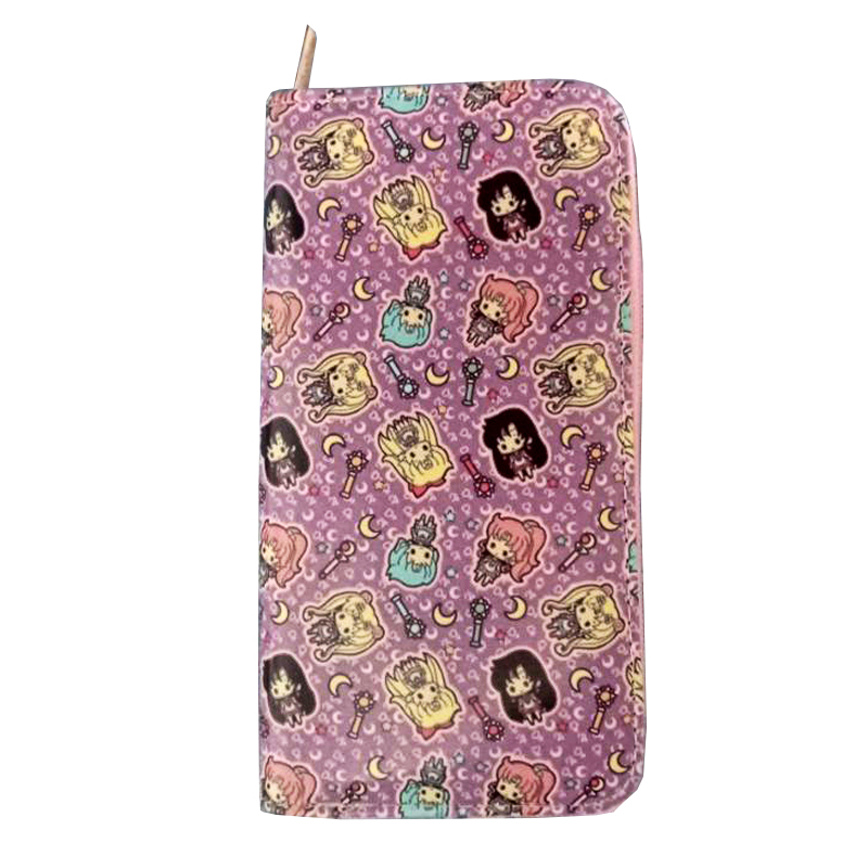Hot Anime Sailor Moon Cosplay PU Leather long Purse Wallet
