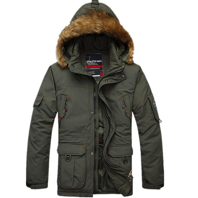 Новый мужской Длинный Толстый Съемный Вкладыш Теплая Зима Снег 90% Белая Утка Вниз Пальто Куртки И Пиджаки для мужчин, 2 Цветов, Размер M-5XL, FZE91