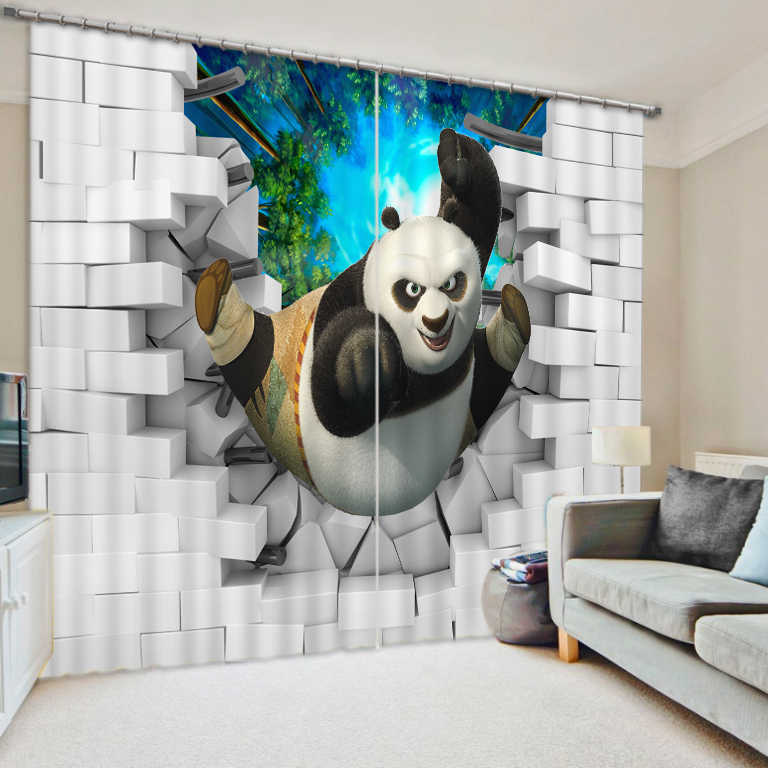 3d Curtains Blackout for Living Room Kids Bedroom Fabric brick curtains