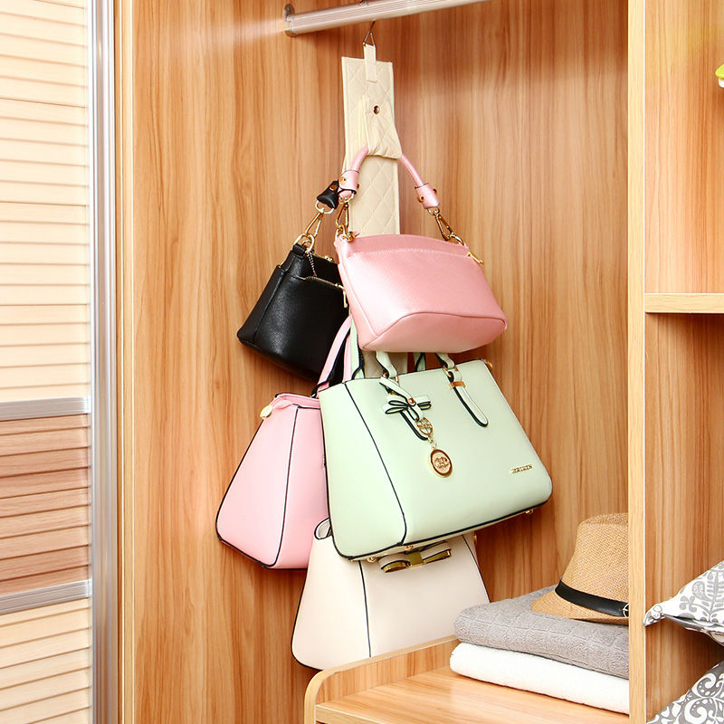 5 hooks handbag purse holder shelf hanger rack wardrobe storage organizer rack bathroom rear door storage holder