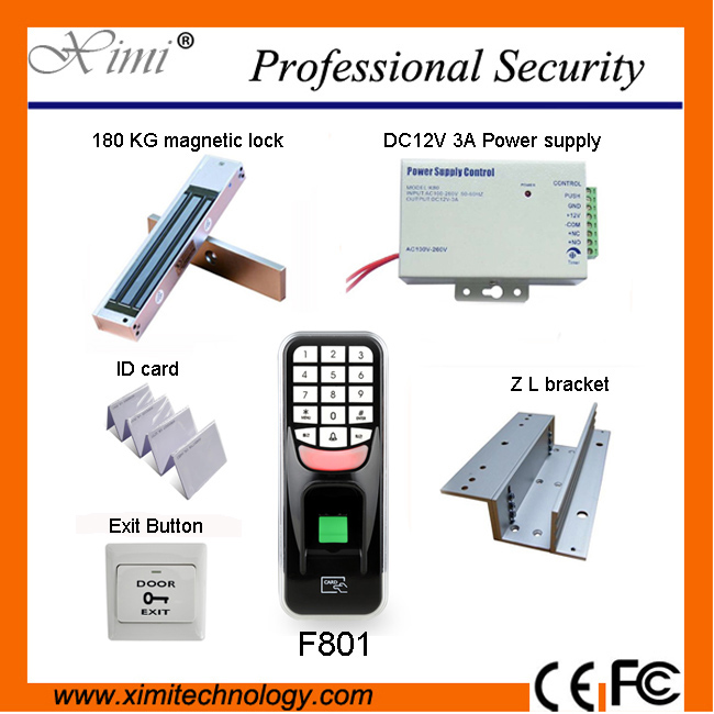 Biometric fingerprint gate access control system F801, with 125KHZ rfid reader 500 user gate access controller biometric fingerprint access controller tcp ip fingerprint door access control reader